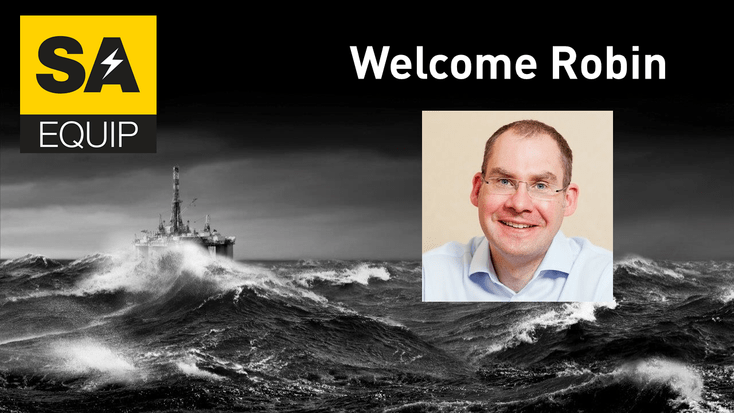 WELCOMING Robin Corkhill POSTER WITH SEA BACKGROUND AND SA LOGO