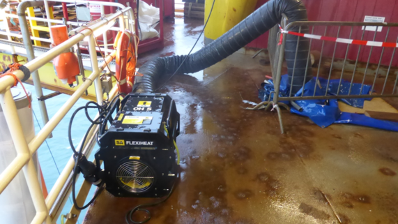 SA Flexiheat installed in GDF SUEZ E&P Nederland B.V. SPOT REPAIR IN POTWATERTANK