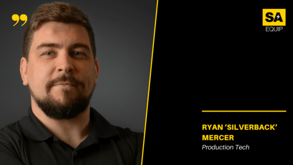 Meet the team, RYAN MERCER image and position on black background