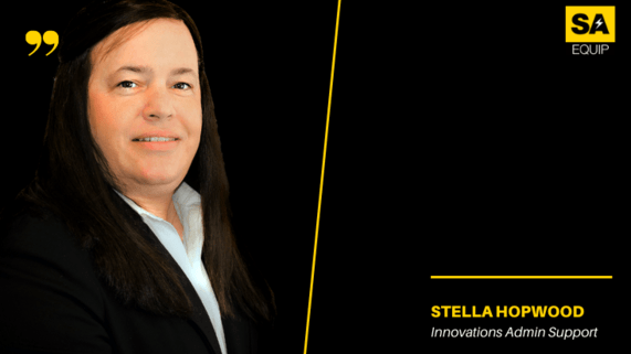 Meet the team, STELLA HOPWOOD image and position on black background