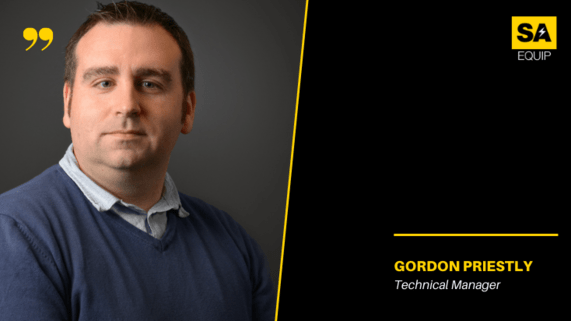 Meet the team, Gordon Priestly image and position on black background