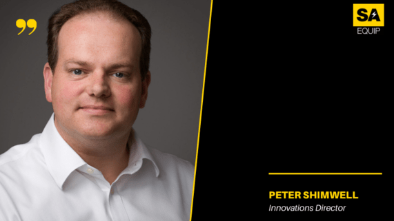Meet the team, PETER SHIMWELL image and position on black background